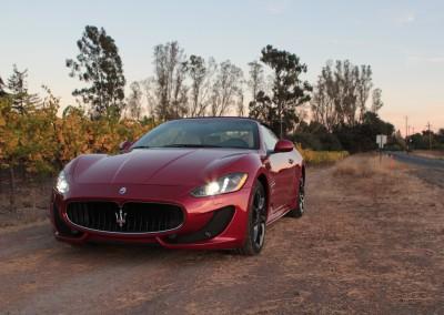 Maserati GranTurismo Convertible - shot in Sonoma, CA