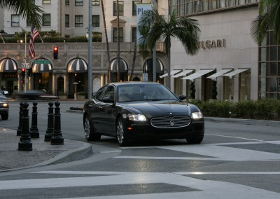 Maserati Quattroporte - shot in Beverly Hills