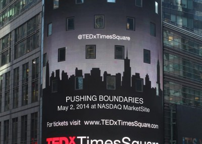 TEDx Times Square on the Nasdaq tower