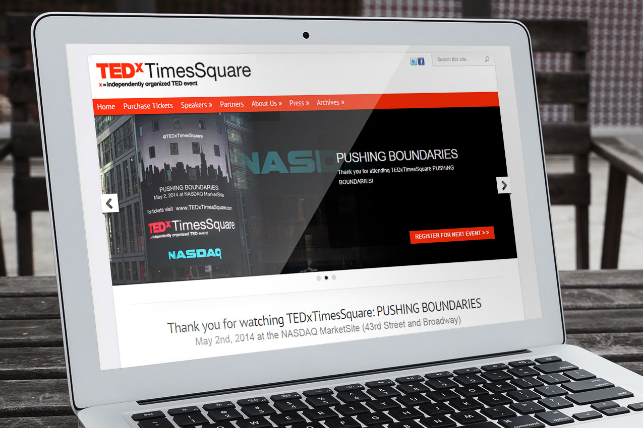 TEDx Times Square website