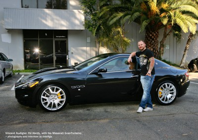 Vince Audigier with his Maserati GranTurismo