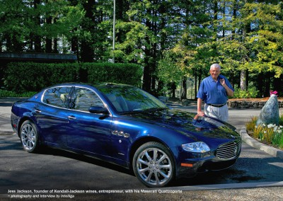 Jess Jackson with his Maserati Quattroporte