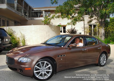 Hollywood direction Jerry  Weintraub in his Maserati Quattroporte seen in the movie Ocean's Thirteen