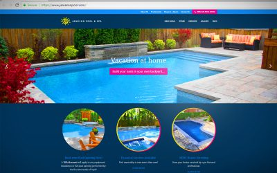 Intelliga launches new mobile-friendly site for Jameson Pool & Spa