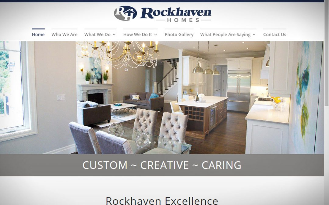 Rockhaven Homes' web site gets a major makeover